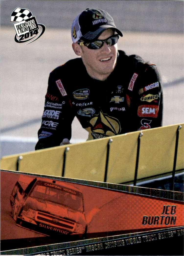 2014 Press Pass Jeb Burton #60 card front image