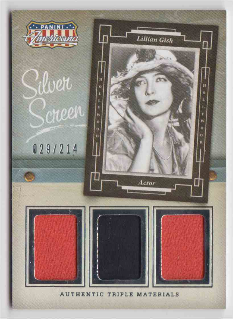 2015 Panini Americana Silver Screen Triple Materials Lillian Gish #ST-LG card front image