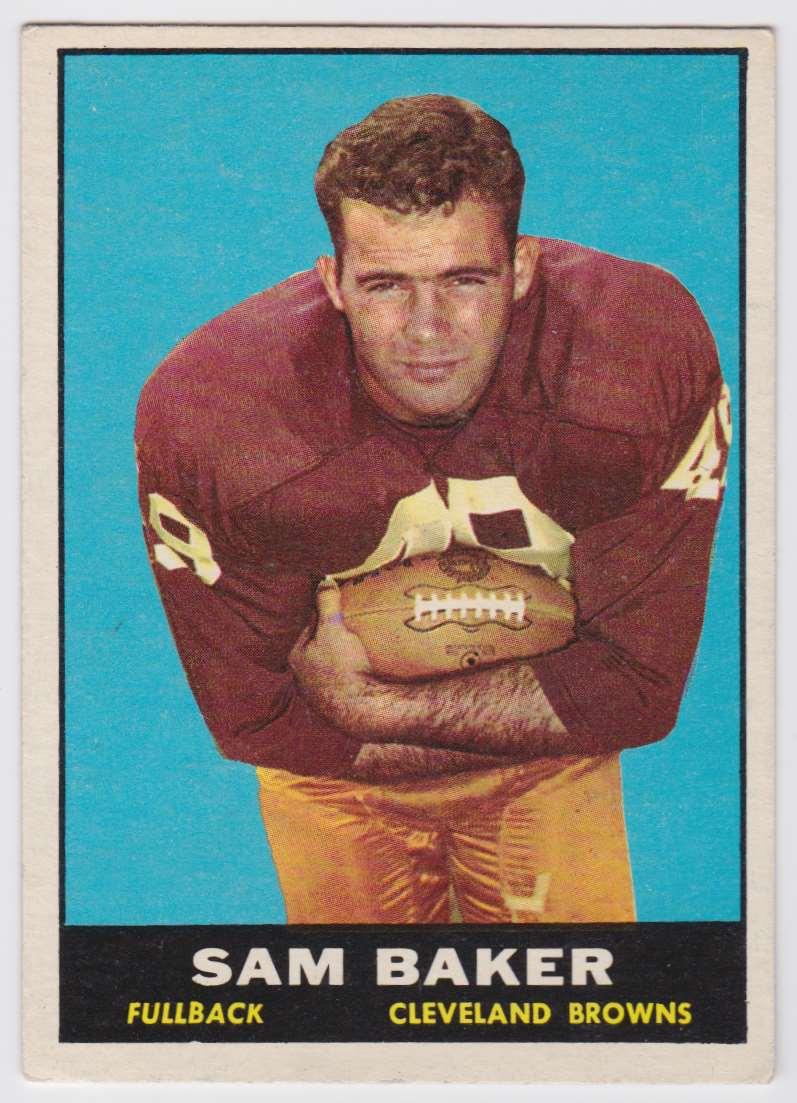 1961 Topps Sam Baker #74 card front image