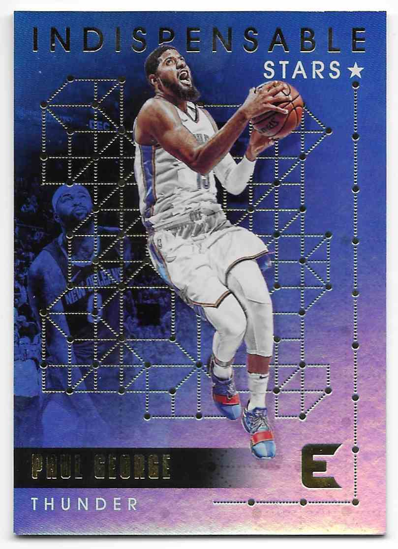 2017-18 Panini Essentials Indispensable Stars Paul George #IS-21 card front image