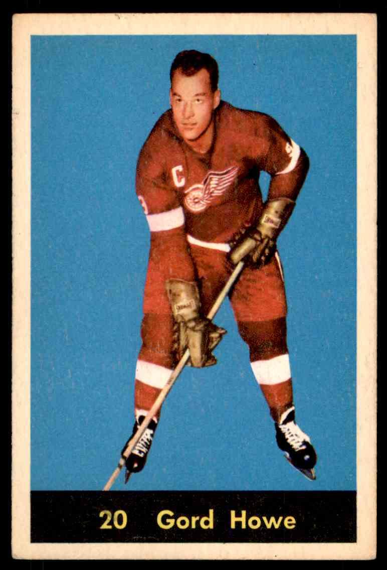 1960-61 Parkhurst Gordie Howe #20 card front image