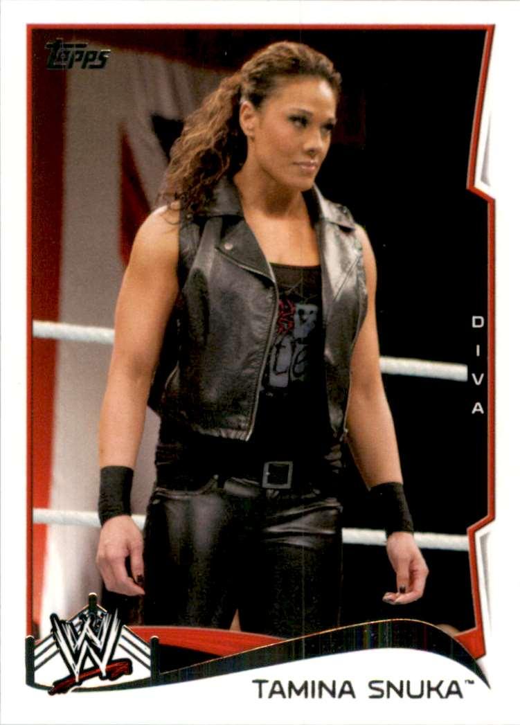 2014 Topps Wwe Tamina Snuka #49 card front image