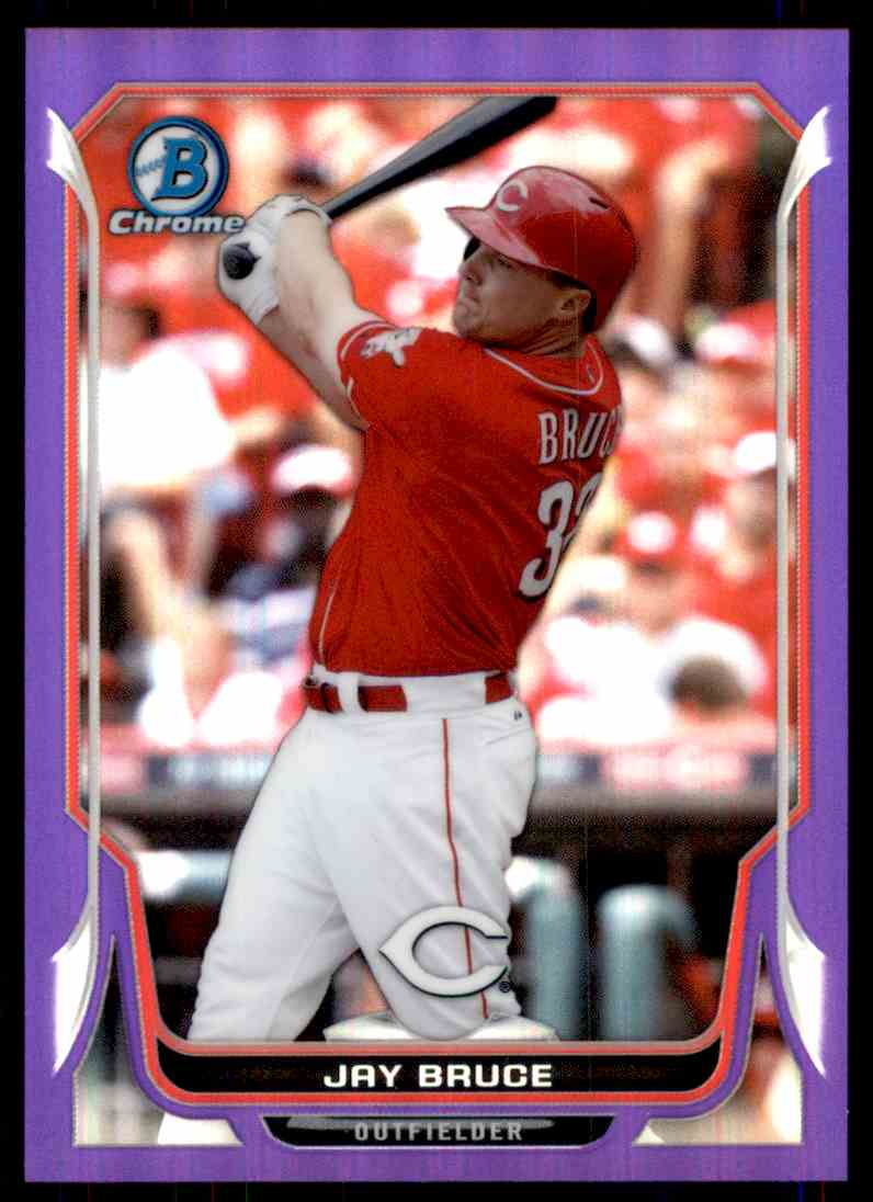 2014 Bowman Chrome Purple Refractor Jay Bruce card front image