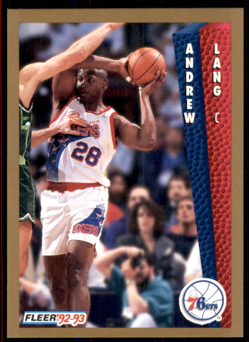 1992-93 Fleer Andrew Lang #406 card front image