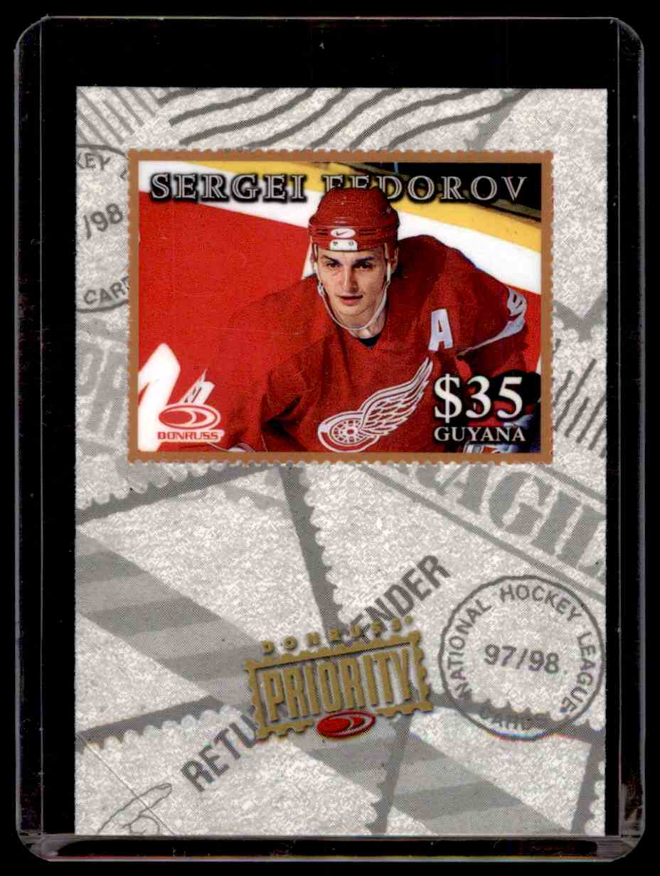 1997-98 Donruss Priority Stamps Sergei Fedorov #15 card front image