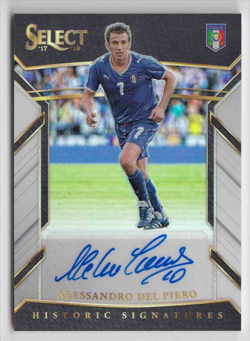 2017 Panini Select Historic Signatures Prizm White Alessandro Del Piero #HS-ADP card front image