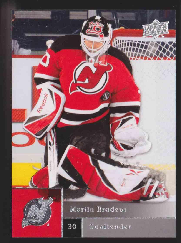 2009-10 Upper Deck Series 1 Martin Brodeur #50 card front image