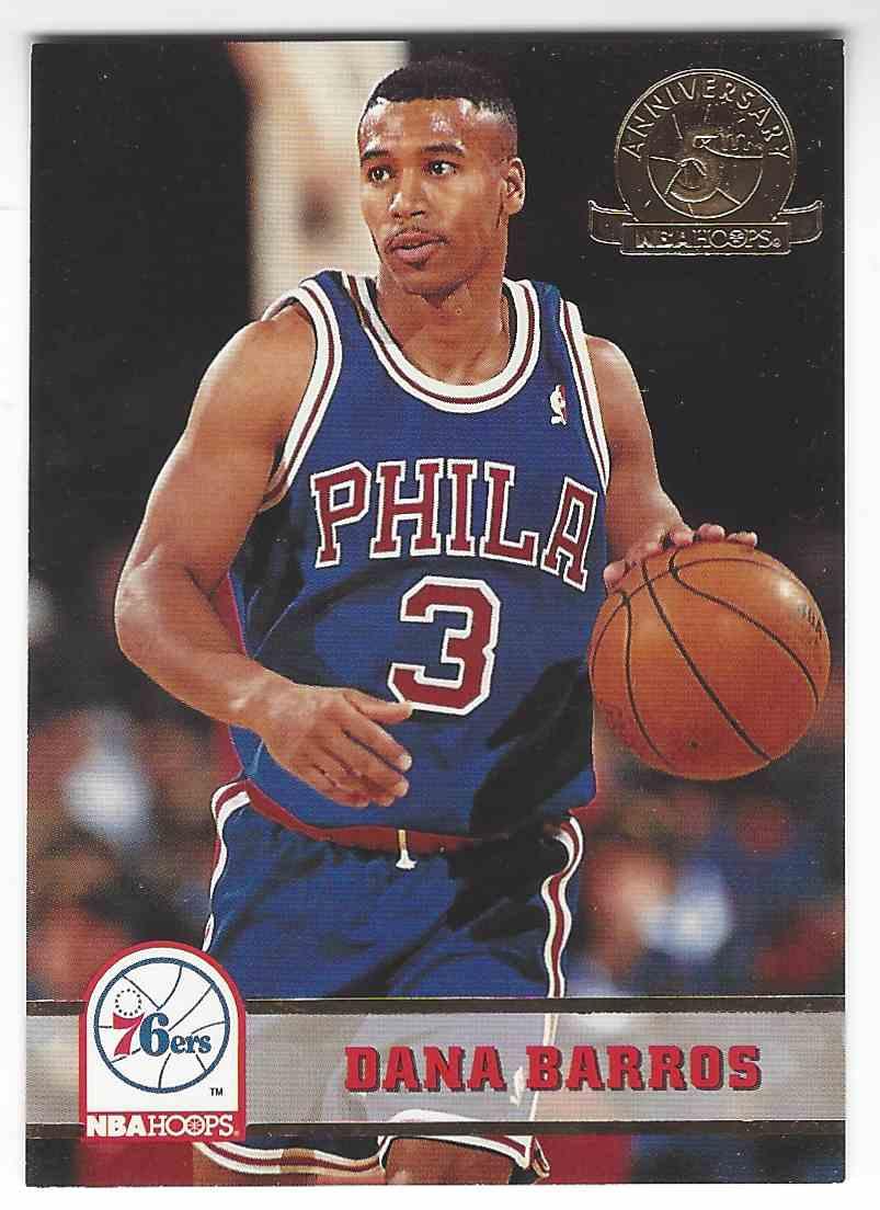 1993 94 NBA Hoops 5th Anniversary Dana Barros 384 on Kronozio