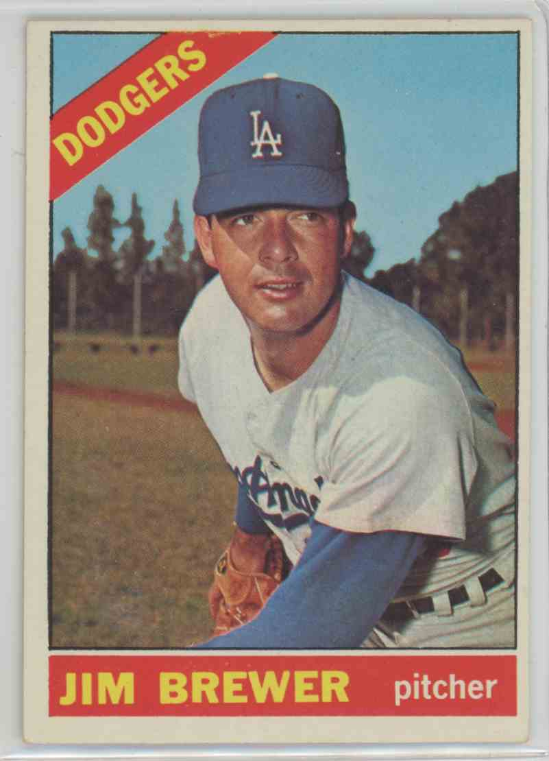 1966 Topps Jim Brewer #158 card front image