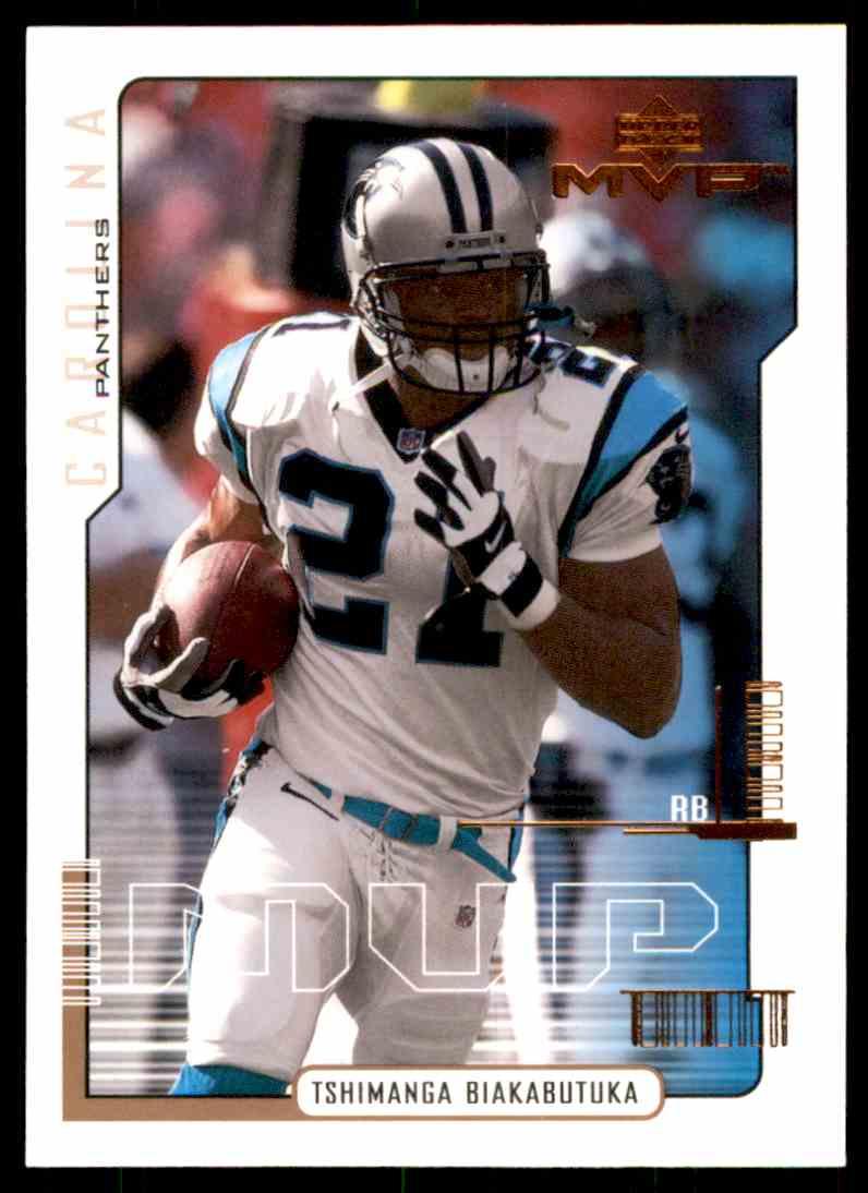 2000 Upper Deck MVP Tim Biakabutuka #26 card front image