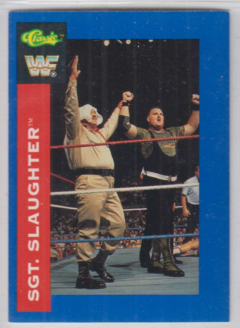 1991 Classic WWF Superstars Sgt. Slaughter #97 card front image