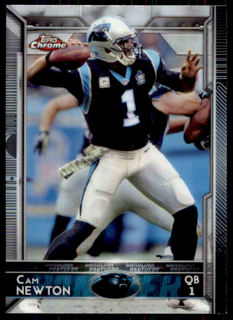 2015 Topps Chrome Refractor Cam Newton #20 card front image
