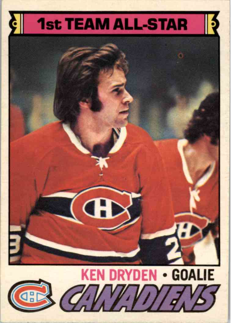 1977-78 O-Pee-Chee Ken Dryden - NrMt Mint #100 card front image