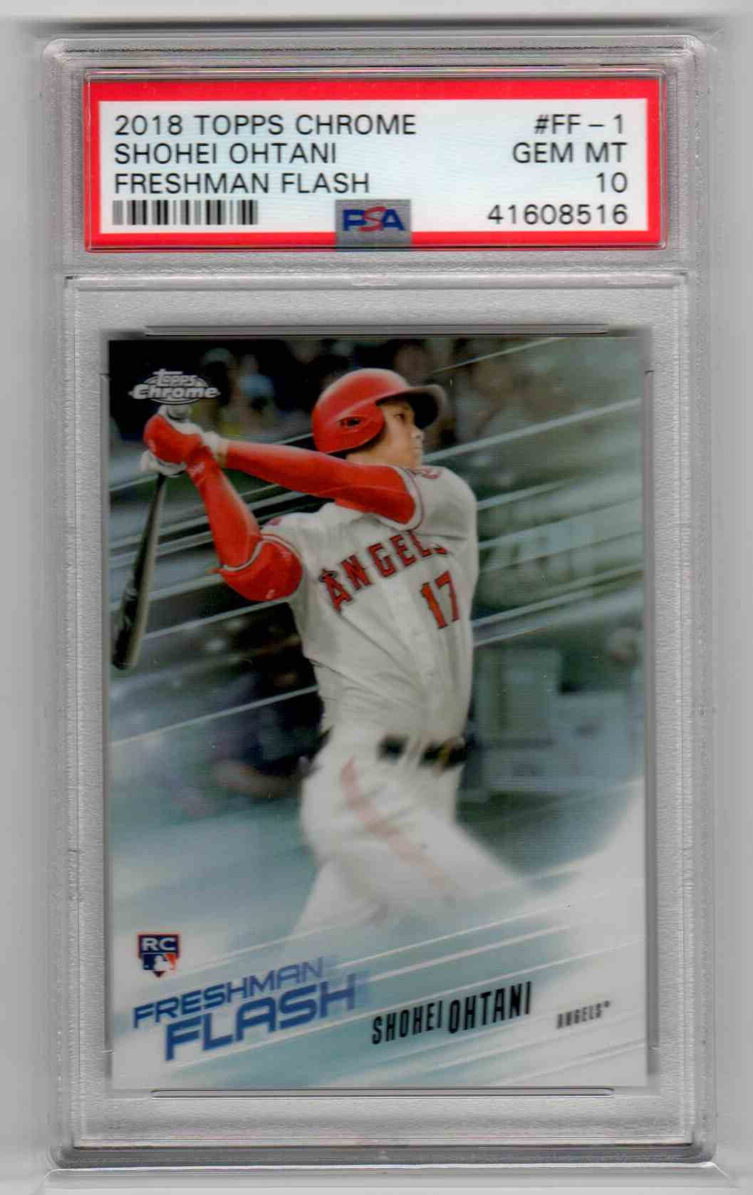 2018 Topps Chrome Freshman Flash Shohei Ohtani #FF-1 card front image