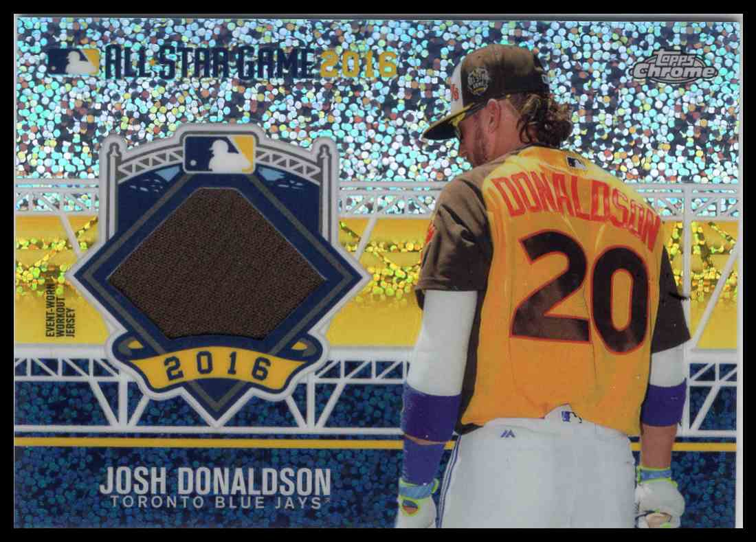 2016 Topps Chrome All Star Game Relic Josh Donalson #ASRC-JD card front image