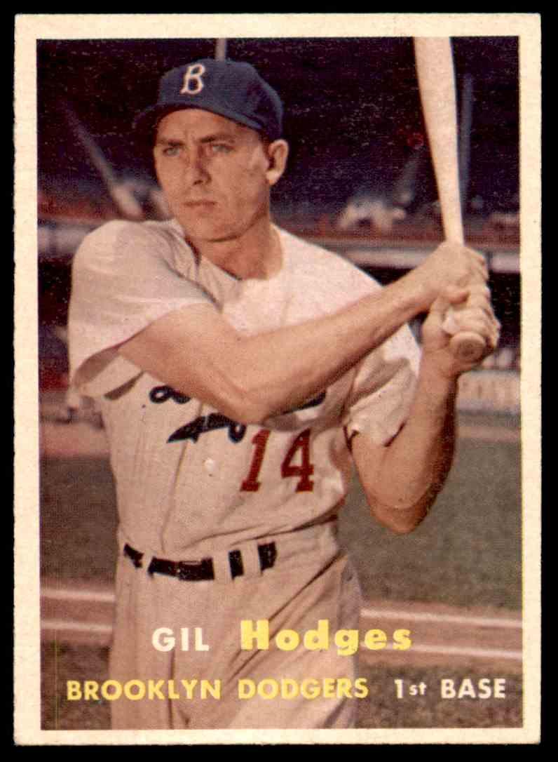 1957 Topps Gil Hodges 80 On Kronozio
