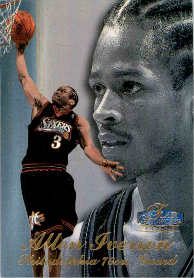 1997-98 Flair Showcase Row 3 Allen Iverson #3 card front image