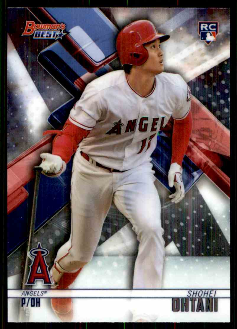 2018 Bowman's Best Shohei Ohtani #1 card front image