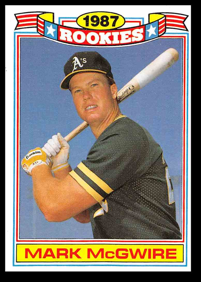 1987 Topps Rookies Mark Mcgwire Baseball Card 13 On
