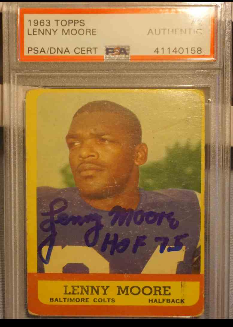 1963 Topps PSA DNA Lenny Moore card front image