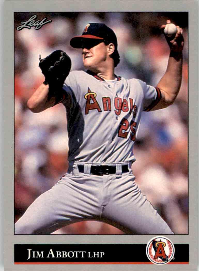 1992 Leaf Jim Abbott #1 card front image