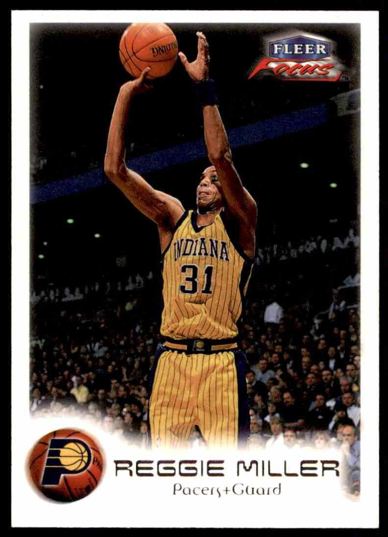 1999-00 Fleer Skybox Basketball Reggie Miller #21 card front image