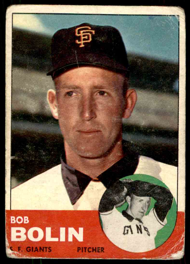 1963 Topps Bob Bolin #106 card front image