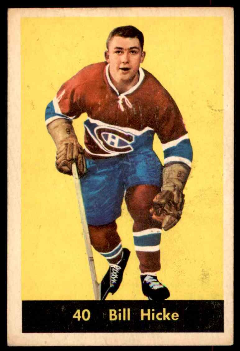 1960-61 Parkhurst Bill Hicke #40 card front image