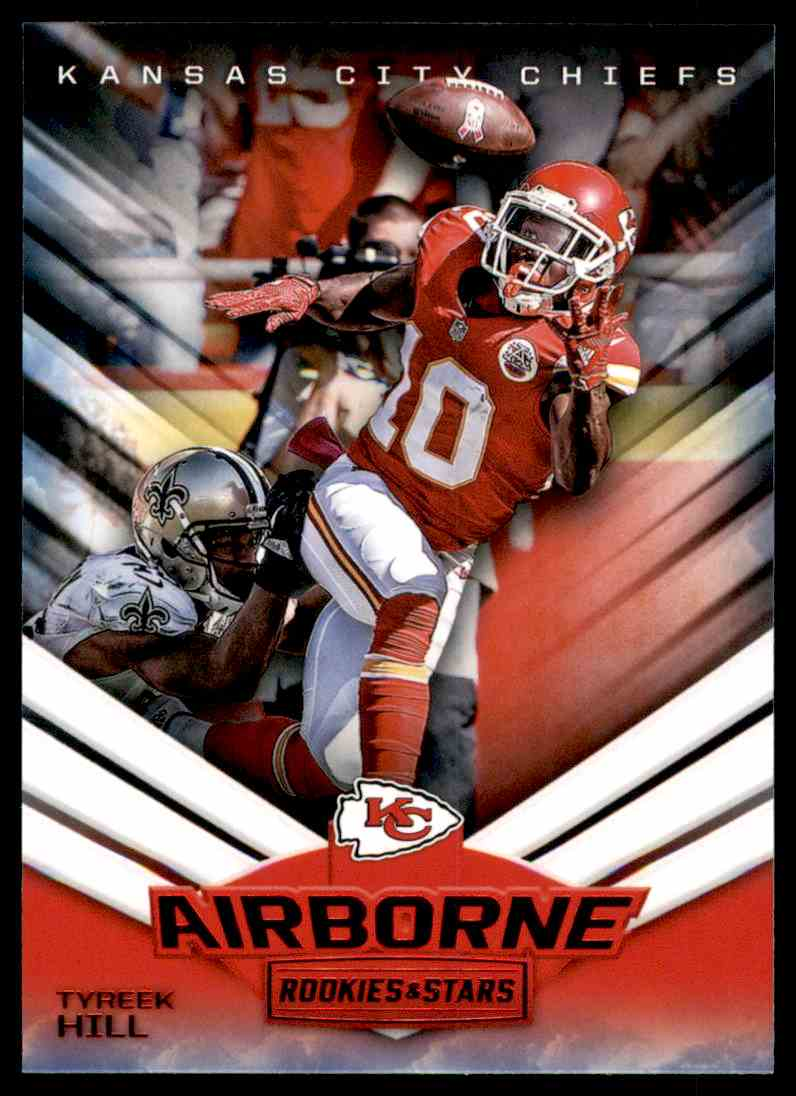 2017 Rookies And Stars Airborne Tyreek Hill #1 card front image