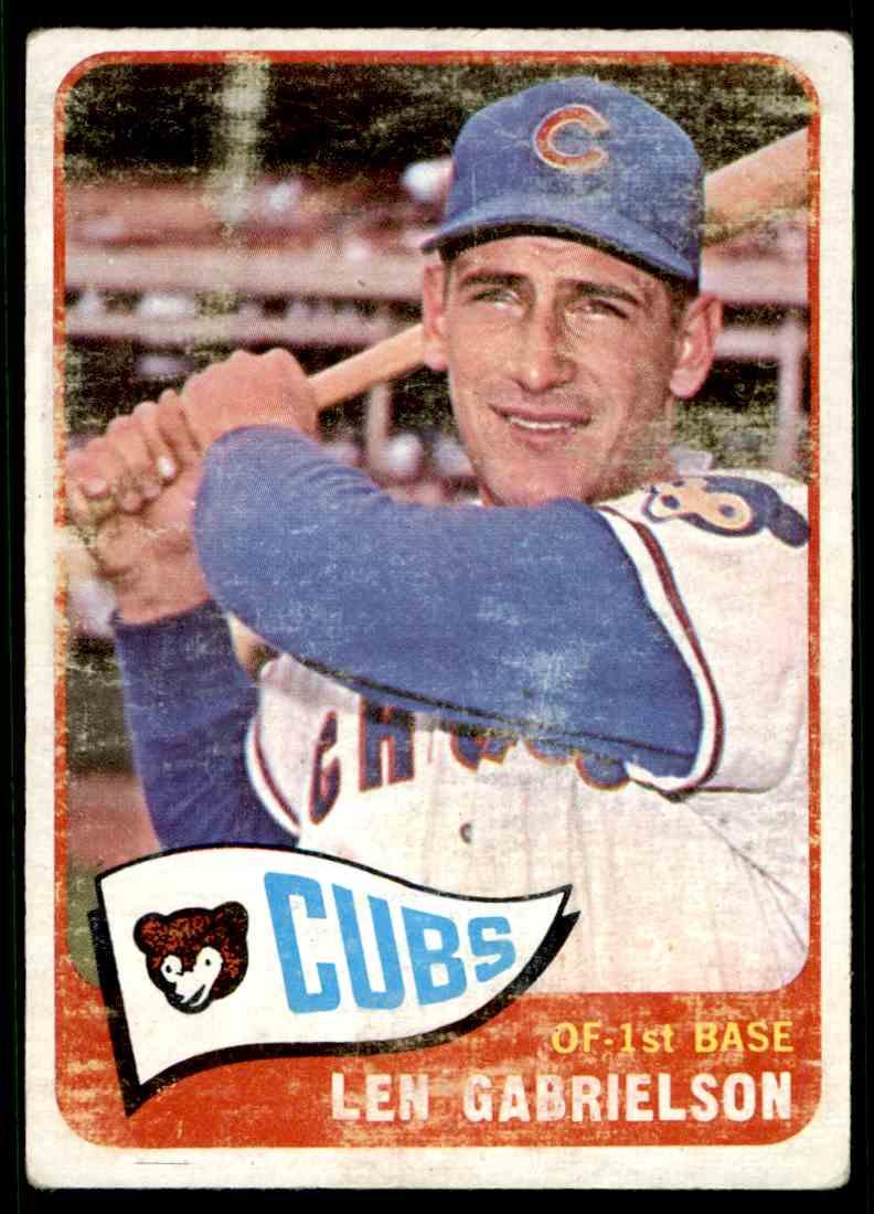 1965 Topps Len Gabrielson #14 card back image