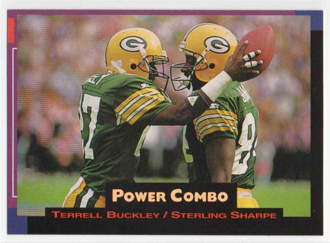 1993 Pro Set Power Power Combo Gold Sterling Sharpe #2 card front image