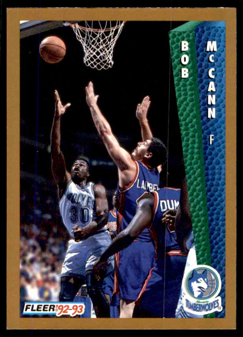 1992-93 Fleer Bob McCann #380 card front image