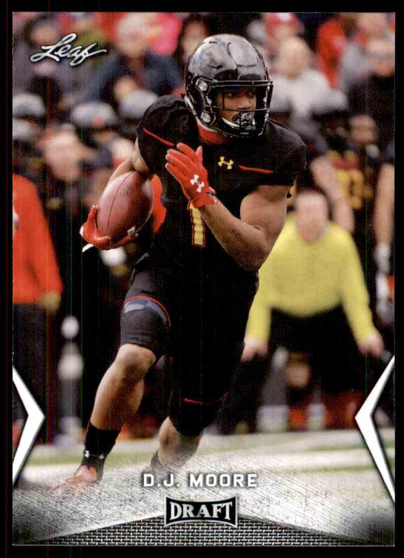 2018 Leaf Draft D.J. Moore #14 card front image