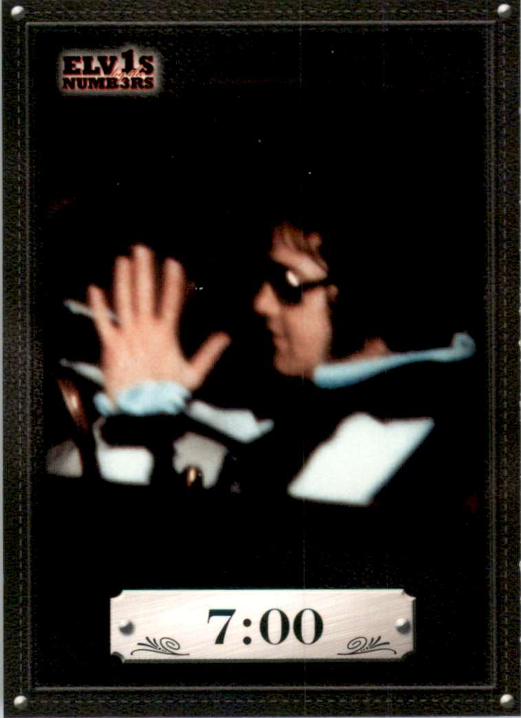 2008 Elvis By The Numbers 7:00 #4 card front image