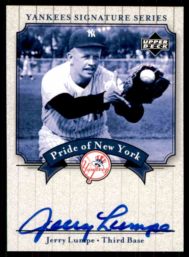 2003 Upper Deck Yankees Siganture Series Jerry Lumpe card front image