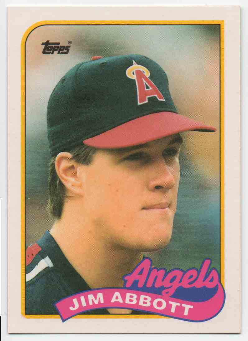 1989 Topps Traded Jim Abbott #2 card front image