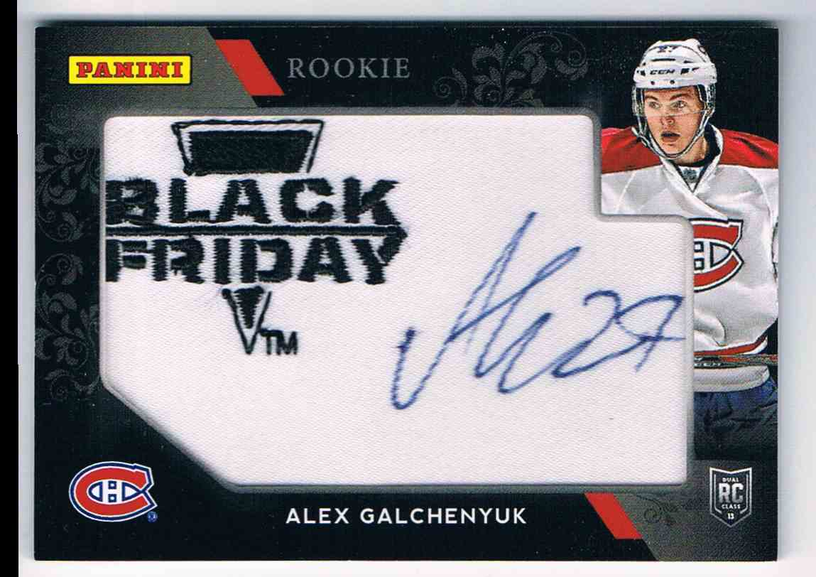 2013-14 Panini Panini Black Friday Autographs Rookie Autograph Alex Galchenyuk #56 card front image