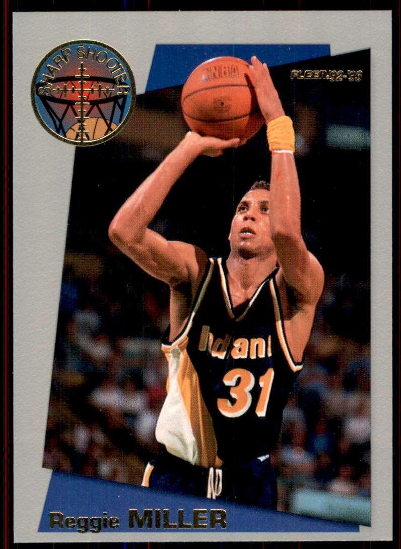 1992-93 Fleer Sharpshooters Reggie Miller #1 card front image