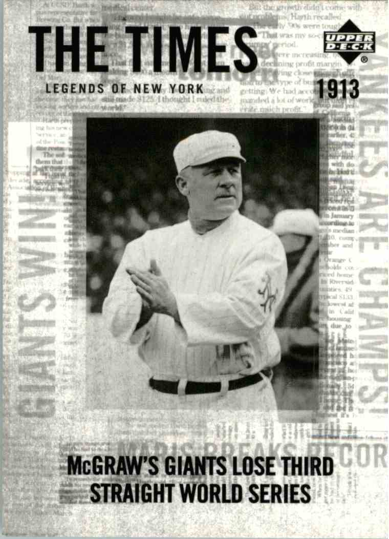 2001 Upper Deck John McGraw #165 card front image