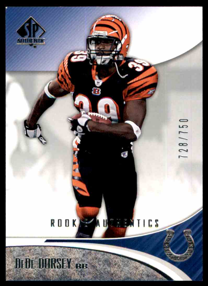 2006 SP Authentic DeDe Dorsey RC #109 card front image