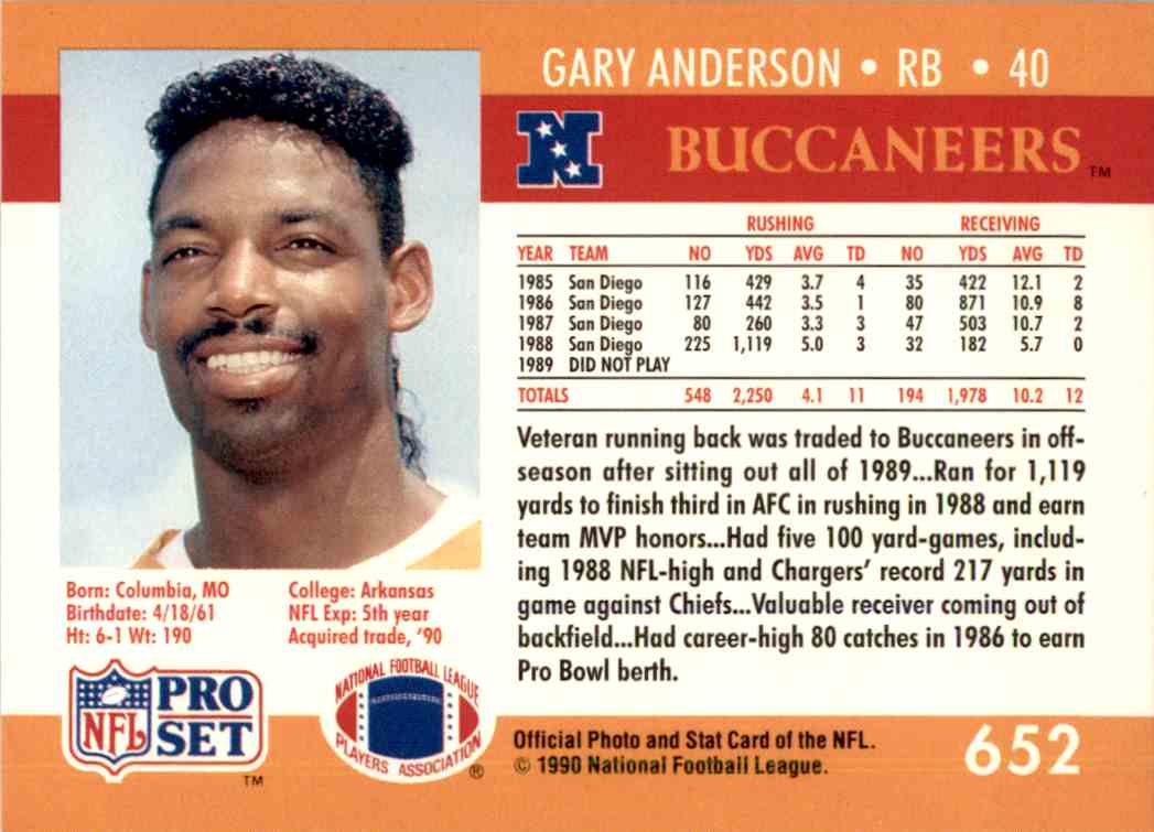 Image result for gary anderson bucs