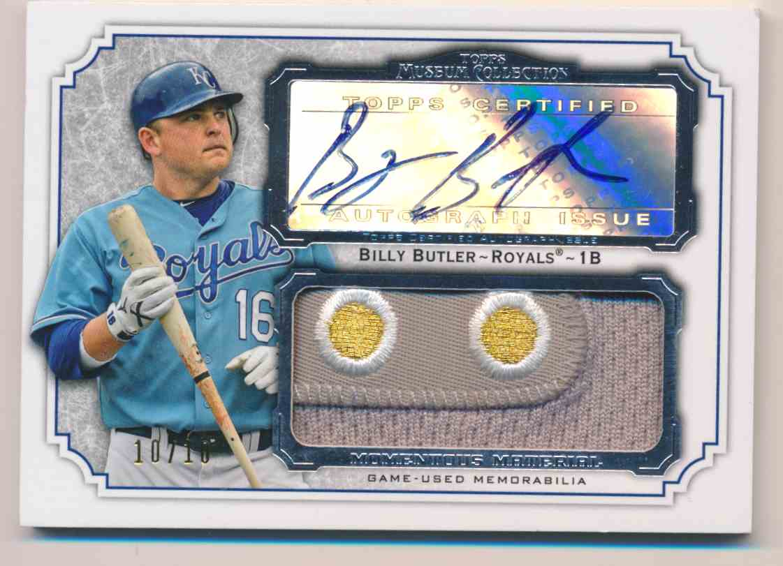 2012 Topps Museum Collection Billy Butler Jersey Patch #MMJAR-BBU card front image