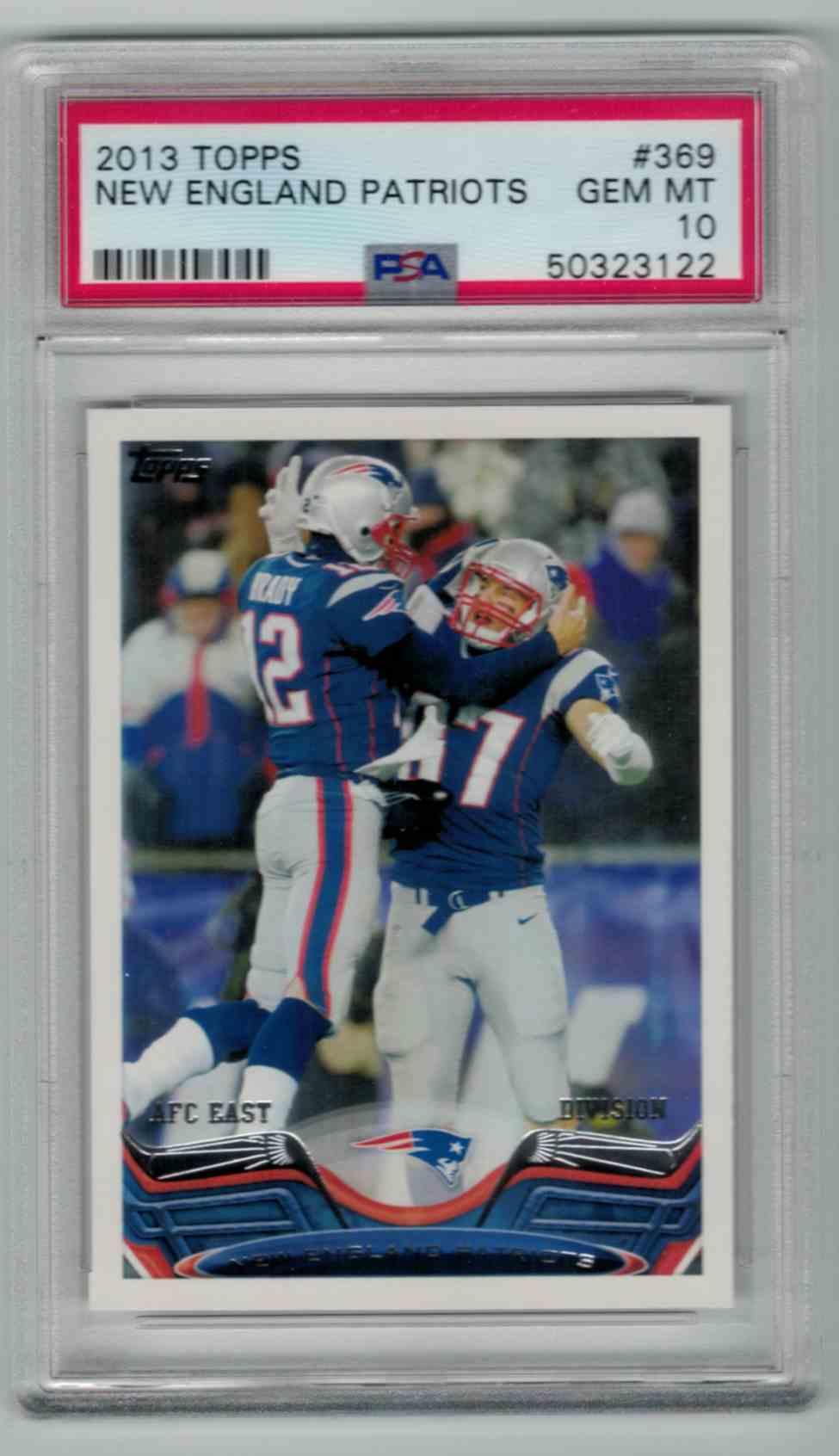 2013 Topps Tom Brady / Rob Gronkowski #369 card front image