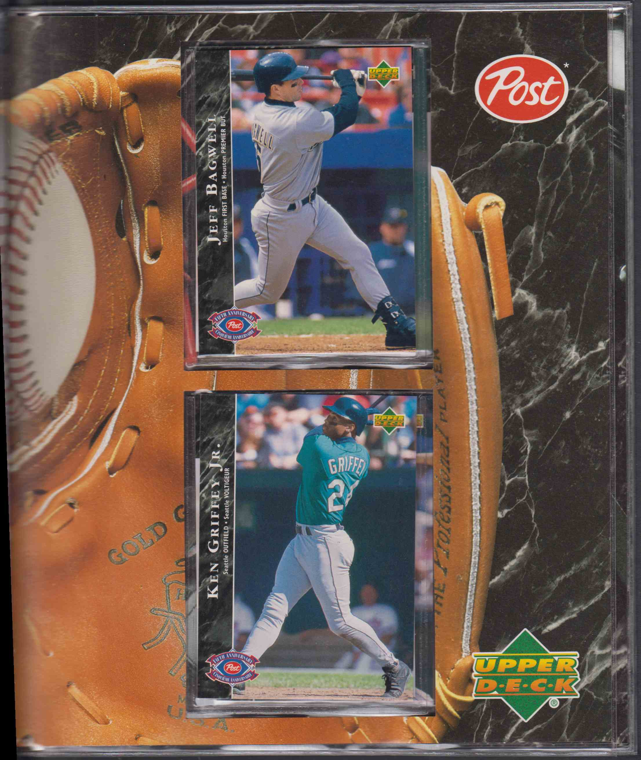 1995 Post Canadian Ken Griffey, Cal Ripken Jr, Etc. card back image
