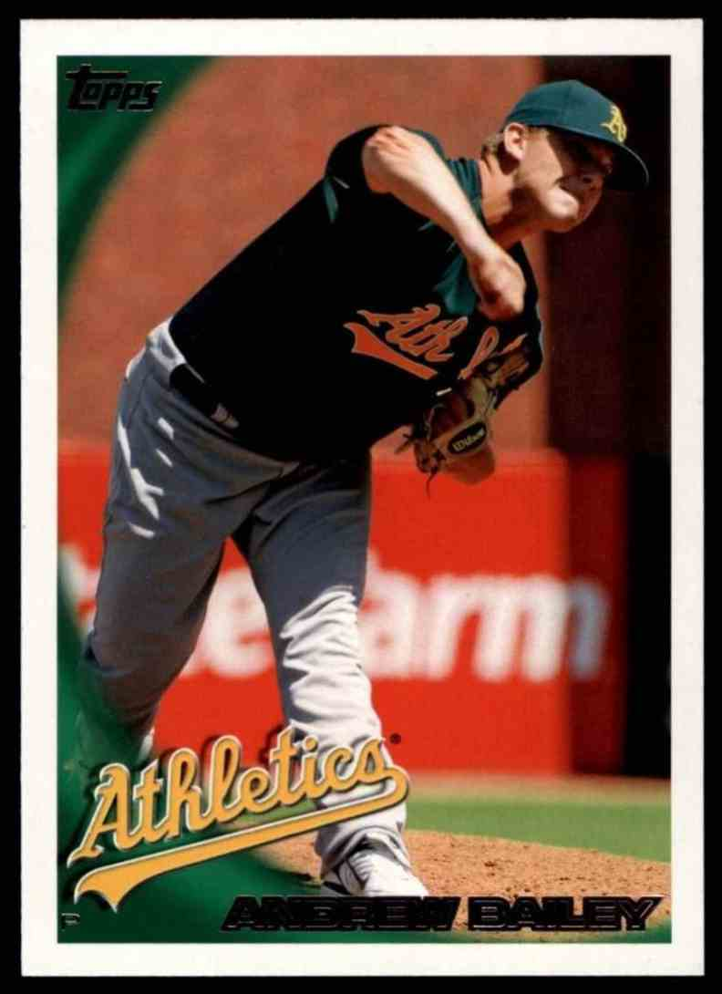 2010 Topps Andrew Bailey #186 card front image