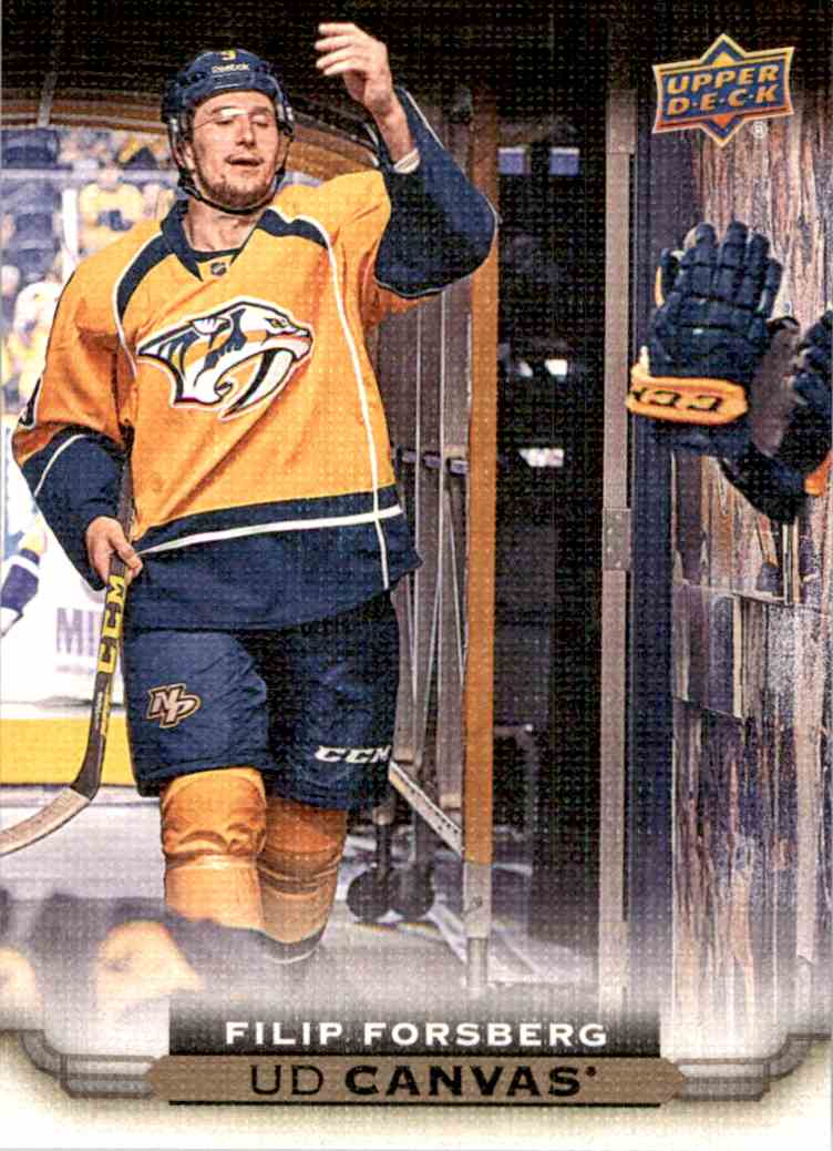 2015-16 Upper Deck Canvas Filip Forsberg #C48 card front image
