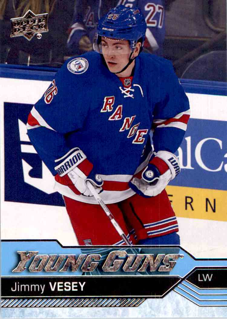 2016-17 Upper Deck Young Guns Jimmy Vesey #218 card front image