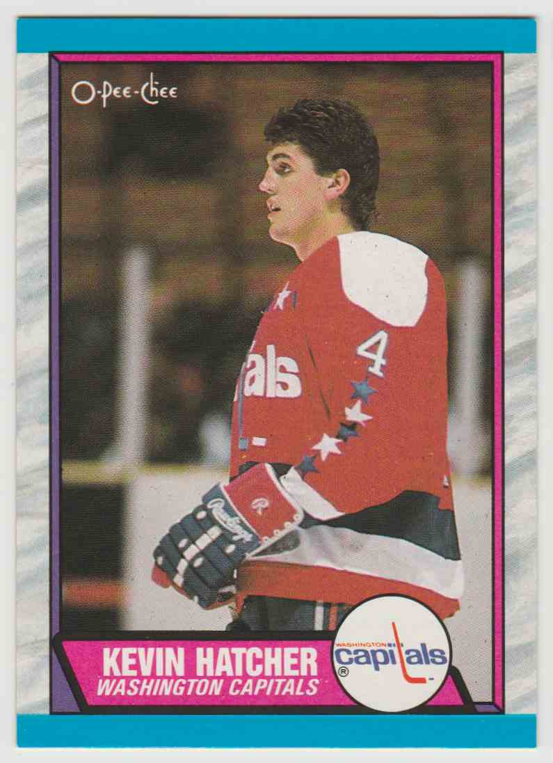 1989-90 O O-Pee-Chee Kevin Hatcher #146 card front image