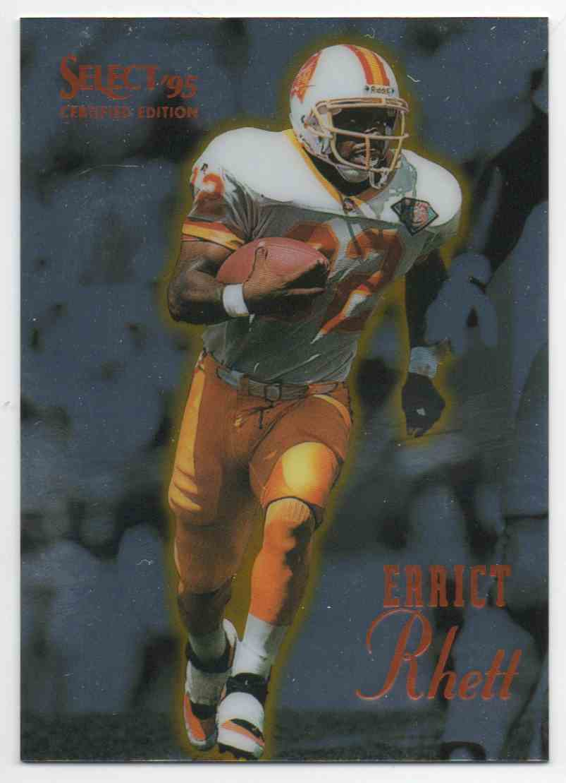 1995 Select Certified Edition Errict Rhett #4 card front image