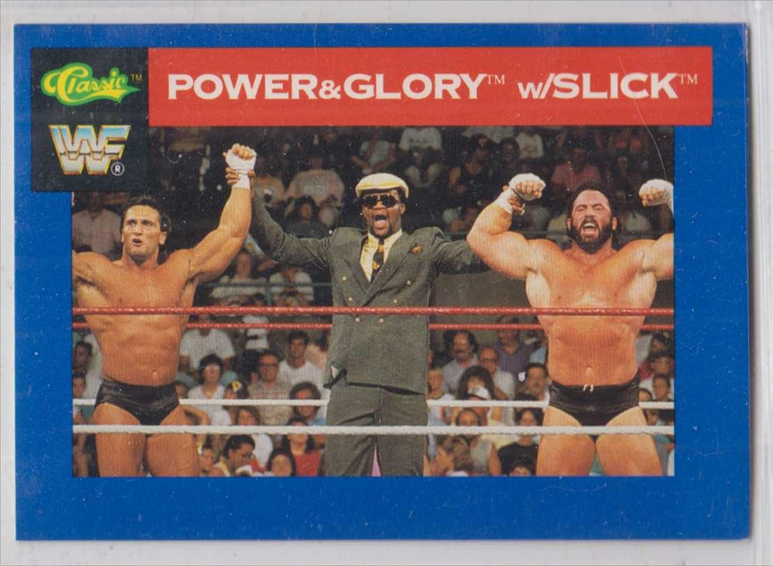1991 Classic WWF Superstars Power & Glory W/Slick #117 card front image